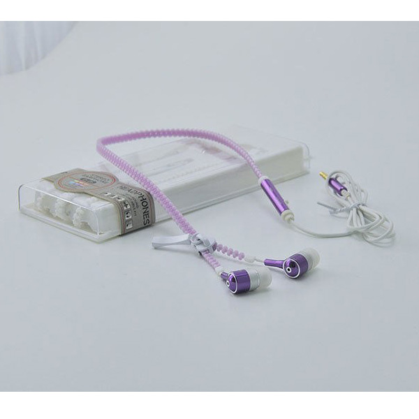 AINGSLIM / Metal Zipper Glow Earphones (PURPLE) - 光るイヤホン -