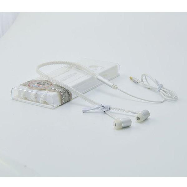 AINGSLIM / Metal Zipper Glow Earphones (WHITE) - 光るイヤホン -