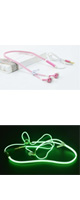 AINGSLIM / Metal Zipper Glow Earphones (PINK) - 光るイヤホン -