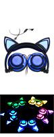 SOVAWIN / 光るネコ耳ヘッドホン (充電式折りたたみタイプ) BLUE