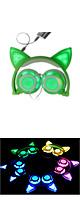 SOVAWIN / 光るネコ耳ヘッドホン (充電式折りたたみタイプ)GREEN