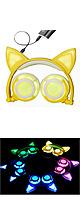 SOVAWIN / 光るネコ耳ヘッドホン (充電式折りたたみタイプ)YELLOW