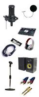 audio-technica(オーディオテクニカ) / AT2035 高音質朗読・ナレーションレコーディングAセット ■限定セット内容■ 【 ・オーディオインターフェイス(M-Track 2X2M) ・マイクスタンド(ES-TM13) ・24金メッキ変換プラグ・ペア RCA/Phone ・金メッキ接続ケーブル(AV3MRCARCA-MHF001) ・ヘッドホン(OV-X8) ・マイクケーブル(TMCC-3) ・ポップガード(ESP-13)】