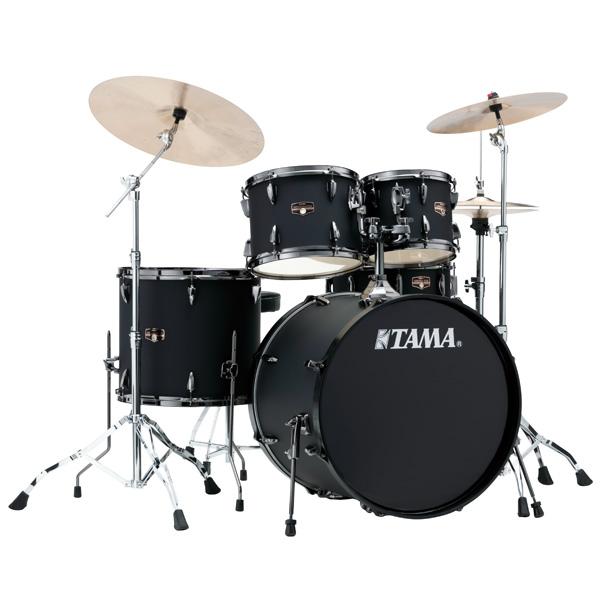"""TAMA(タマ) / IMPERIALSTAR w/ Black Nickel Parts 22""""バスドラムキット[IP52KH6HCB-BOB(ブラックド・アウト・ブラック)] - 入門用ドラムセット -"""
