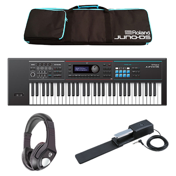 【最低限自宅練習セット】Roland(ローランド) / JUNO-DS61 - 61鍵 シンセサイザー  4大特典セット