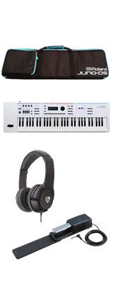 【最低限自宅練習セット】Roland(ローランド) / JUNO-DS61W - 61鍵 シンセサイザー  5大特典セット