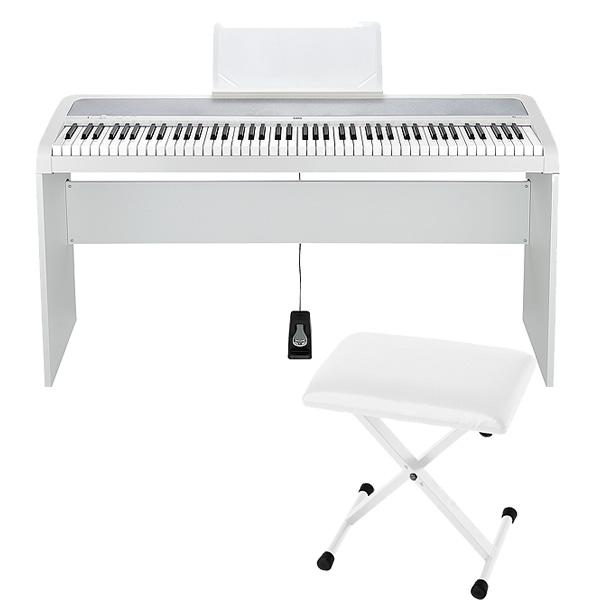 Korg(コルグ) / B1(ホワイト) 【デジタルピアノ専用スタンド(STB1-WH) / 折り畳みイス(JS-SB100WH)セット】