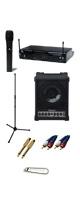 【選べるワイヤレスマイクの簡易PA Aセット】CM-30 K.W.Sワイヤレスマイク   《 講演 ・イベントに最適 》 1大特典セット