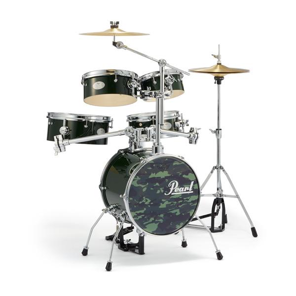 【限定カラー】Pearl(パール) / Rhythm Traveler Version 3S 【RT-645N/C #93 Alpine Green (アルパイン・グリーン)】 リズムトラベラー-コンパクト ドラムセット - ☆ドラムスローン・ドラムマット付き☆