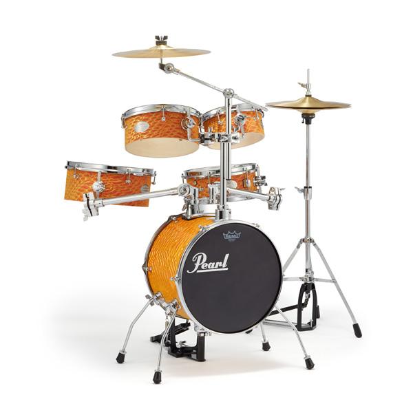 【限定カラー】Pearl(パール) / Rhythm Traveler Version 3S 【RT-645N/C #439 Orange Swirl (オレンジ・スワール)】 リズムトラベラー-コンパクト ドラムセット - ☆ドラムスローン・ドラムマット付き☆