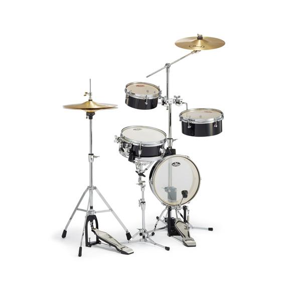 Pearl(パール) / Rhythm Traveler Light リズムトラベラーライト 【RT-5124N RT-5124N_#31  Jet Black (ジェット・ブラック)】 - コンパクト・ドラムセット  -