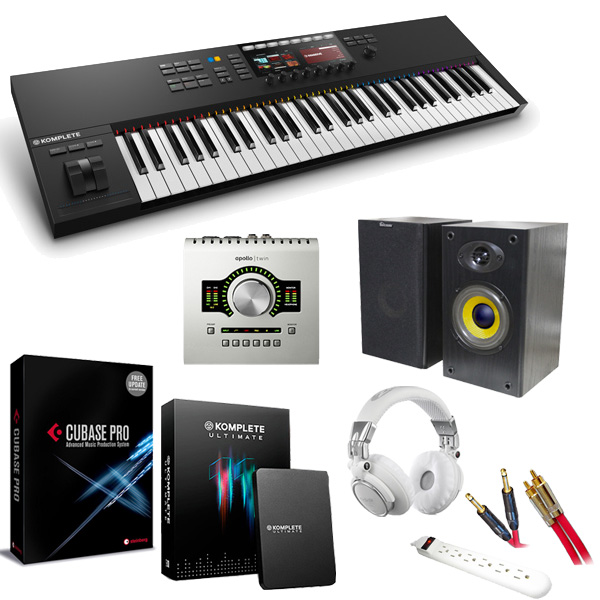 KOMPLETE KONTROL S61 MK2 / APOLLO TWIN DUO / Cubase Pro9&KOMPLETE 11 ULTIMATE 本格レコーディングセット 4大特典セット