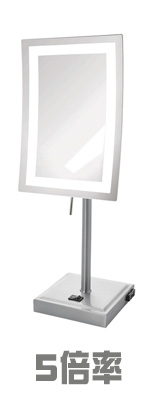 Jerdon(ジェルドン) / JRT910NL (ニッケル)  《LED付き鏡》【5倍率】[鏡面 約17×23cm / 高さ 約43cm] 卓上型テーブルミラー 1大特典セット