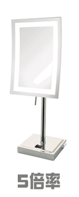 Jerdon(ジェルドン) / JRT910CL (クロム)  《LED付き鏡》 【5倍率】[鏡面 約17×23cm / 高さ 約43cm] 卓上型テーブルミラー 1大特典セット
