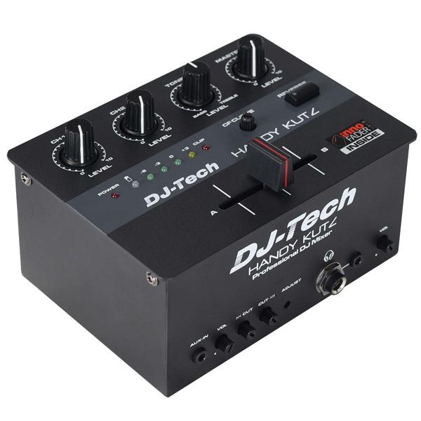 DJ-Tech (ディージェーテック) / Handy Kutz - 【充電式電池搭載】 2CH DJ スクラッチミキサー -