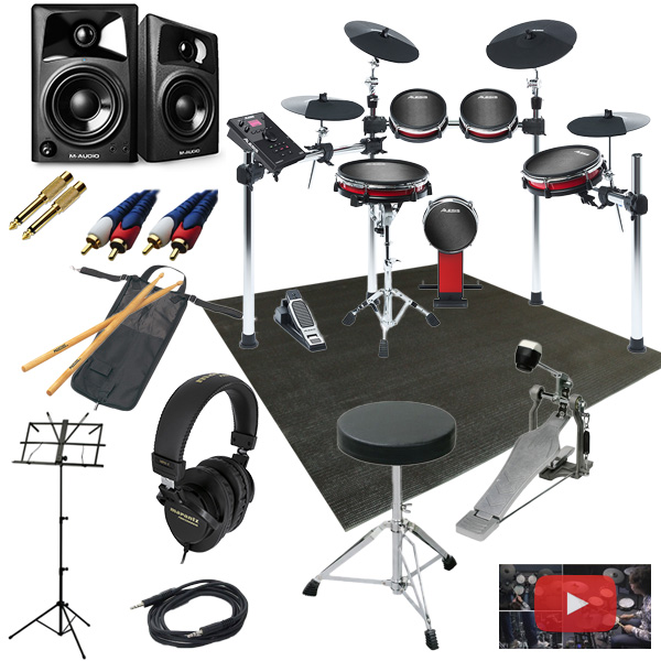 【高音質モニタースピーカー付きセット】Alesis(アレシス) / CRIMSON II KIT 【CRIMSON 2 KIT クリムゾン 2 キット】 - 電子ドラム - 13大特典セット