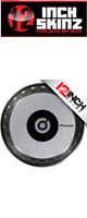 12inch SKINZ / Pioneer CDJ Platter Skinz (PAIR) Metallics (Brushed Silver) 【CDJ-850 / CDJ-900NXS / CDJ-1000 / CDJ-2000NXS2 / XDJ-1000 / DDJ-SZ プラッター用スキン】