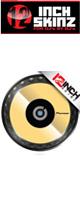 12inch SKINZ / Pioneer CDJ Platter Skinz (PAIR) Metallics (Mirror Gold) 【CDJ-850 / CDJ-900NXS / CDJ-1000 / CDJ-2000NXS2 / XDJ-1000 / DDJ-SZ プラッター用スキン】