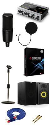 【DTM高音質レコーディングセットB】Cubase Pro 9 (アカデミック版) / KOMPLETE AUDIO 6 / AT2020 6大特典セット