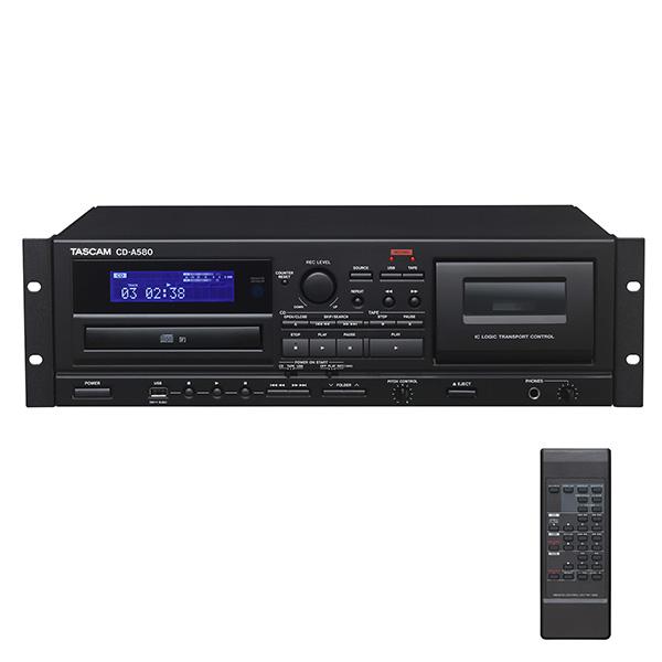【限定1台】Tascam(タスカム ) / CD-A580 - 業務用カセットレコーダー/CDプレーヤー/USBメモリーレコーダー -【箱ボロ特価品】