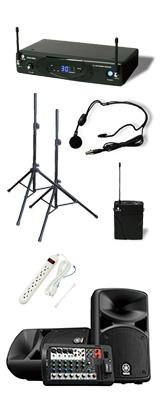 【ワイヤレスヘッドセットPAセット】YAMAHA(ヤマハ) STAGEPAS_400BT / KWS-899P/HM-38 《講演 ・イベントに最適》 1大特典セット