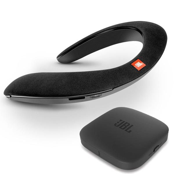 JBL(ジェービーエル) / SOUNDGEAR BTA (BLACK) 【Bluetoothオーディオ (BTA) 送信機機付属】 - VRにオススメ 個人用ワイヤレススピーカー / ウェアラブルネックスピーカー - 1大特典セット