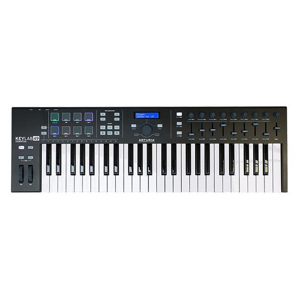 【限定色】Arturia(アートリア) / KeyLab Essential 49 Black Edition - 49鍵MIDIキーボード - 【Analog Lab・Ableton Live Lite付属】