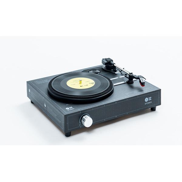 amadana(アマダナ) / SPINBOX SBX-B(ブラック) - 組み立て式ポータブルレコードプレイヤー -
