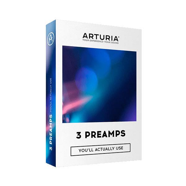 【限定1台】Arturia(アートリア) / 3 PREAMPS 3種類のプリアンプのプラグインバンドルソフト 【アウトレット品/メーカー保証付】 1大特典セット