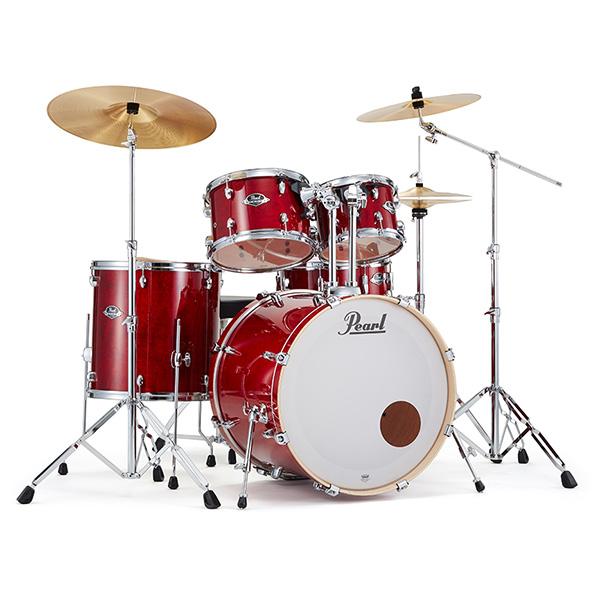 Pearl(パール) / EXPORT EXL LACQUER Finish シンバル付ドラムフルセット  【EXL725S/C #246(ナチュラルチェリー)】 - ドラムセット -  1大特典セット