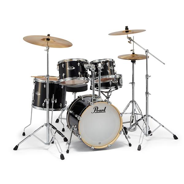 Pearl(パール) / EXPORT EXX シンバル付ドラムフルセット(ジュニアサイズ)【EXX785/C #31 (ジェットブラック)】 - ドラムセット - 1大特典セット