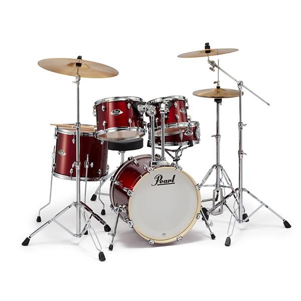 Pearl(パール) / EXPORT EXX シンバル付ドラムフルセット(ジュニアサイズ)【EXX785/C #760 (バーガンディ)】 - ドラムセット - 1大特典セット