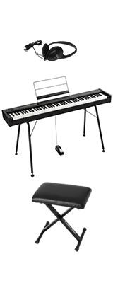 ■ご予約受付■ 【専用スタンド&イスセット】Korg(コルグ) / D1 スピーカーレス デジタルピアノ 「譜面立て・ダンパーペダル・ヘッドホン付き」 1大特典セット