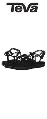 TEVA(テバ) / Women's W Voya Infinity Flip-Flop (Black) - レディース 女性用 シューズ 靴 サンダル - 【※サイズはプルダウンよりお選びください】