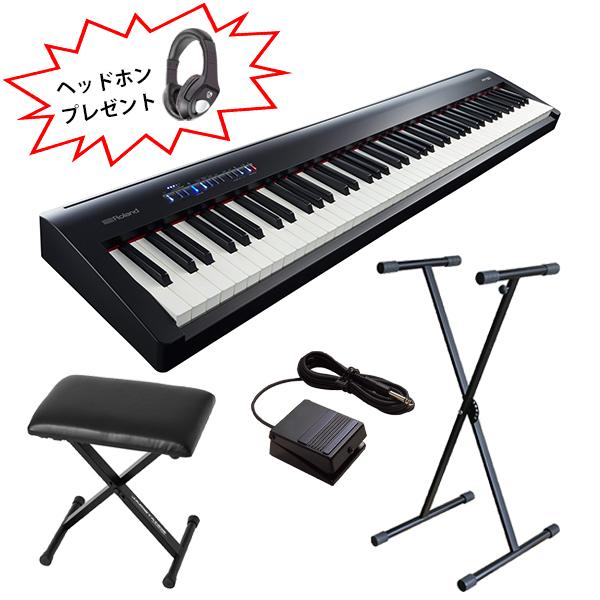 【 折り畳みX型スタンド&イスセット 】 Roland(ローランド) / FP-30-BK- デジタルピアノ ・電子ピアノ  -
