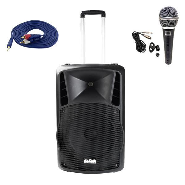 DJ-Tech (ディージェーテック) / FPX-G12BTE - 充電式 簡易PAシステム -
