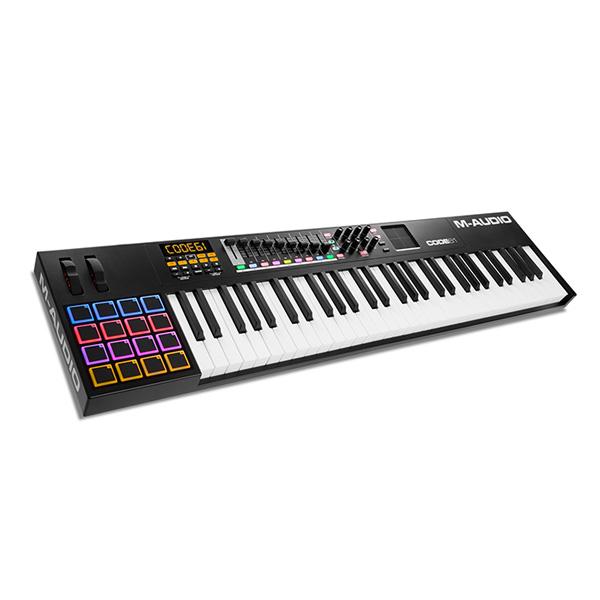 M-Audio(エム・オーディオ) / Code 61 Black【Ableton Live Lite付属】 -ベロシティ&アフタータッチ対応61鍵盤 USB MIDIキーボードコントローラ -- -