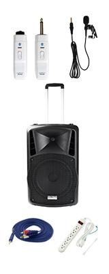 【電源不要ワイヤレスピンマイクセット】 DJ-Tech (ディージェーテック) / FPX-G12BTE - 充電式 簡易PAシステム - 2大特典セット