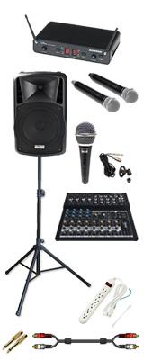 【本格PA ワイヤレスマイク2本セット】 DJ-Tech (ディージェーテック) / FPX-G12BTE - 充電式 簡易PAシステム - 2大特典セット