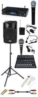 【本格PA 2chワイヤレスアクセサリーAセット】 DJ-Tech (ディージェーテック) / FPX-G12BTE - 充電式 簡易PAシステム - 2大特典セット