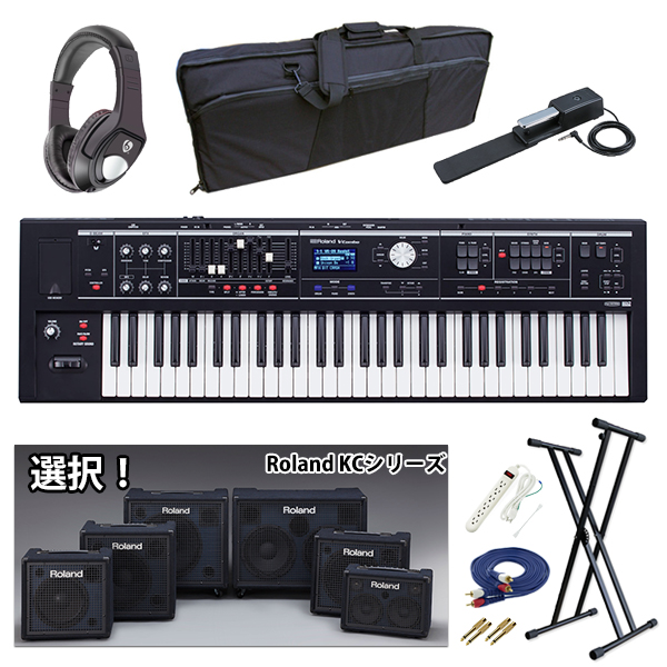 【KCシリーズ選択セット】 Roland(ローランド) / V-COMBO VR-09-B - 電池駆動 61鍵 ライブパフォーマンス・キーボード -