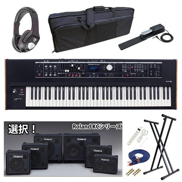 【KCシリーズ選択セット】 Roland(ローランド) / V-COMBO VR-730 - 電池駆動 73鍵 ライブパフォーマンス・キーボード -