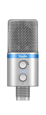 IK Multimedia(アイケーマルチメディア) / iRig Mic Studio シルバー - iOS / Android / PC 対応マイク -