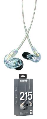 Shure(シュアー) / SE215-CL-A クリアー カナル型 高遮音性イヤホン 1大特典セット