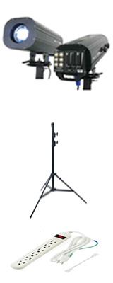 e-lite(イーライト) / TRACER MINI / LFS-500 - フォロースポットライト &スタンドセット 1大特典セット