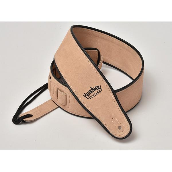 Headway(ヘッドウェイ) / Suede Leather Strap HW-5000 (Wheat) - ギターストラップ -