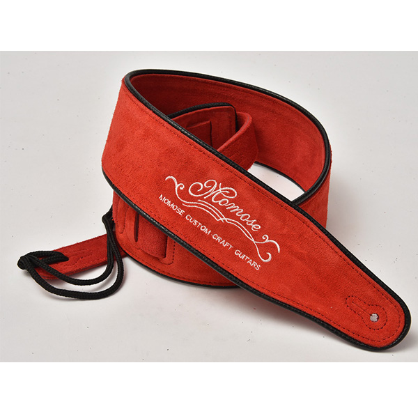 Momose(モモセ) / Suede Leather Strap MS-5000 (Red) - ギターストラップ -