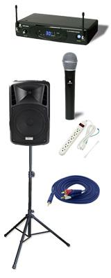 【ワイヤレスマイク1本シンプルセット】 DJ-Tech (ディージェーテック) / FPX-G12BTE - 充電式 簡易PAシステム - 2大特典セット