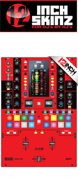■ご予約受付■ 12inch SKINZ / Rane SEVENTY-TWO SKINZ (RED/BLACK) 【SEVENTY-TWO 用スキン】
