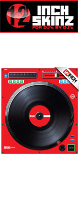 ■ご予約受付■ 12inch SKINZ / Rane TWELVE SKINZ (SINGLE / 1枚) (RED) 【TWELVE 用スキン】 ※旧モデル仕様※